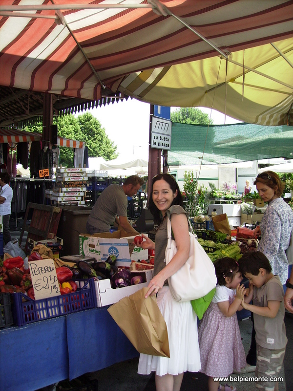 In Alba food market, Piedmont, Italy