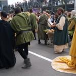 Parade before palio degli asini in Alba, Italy