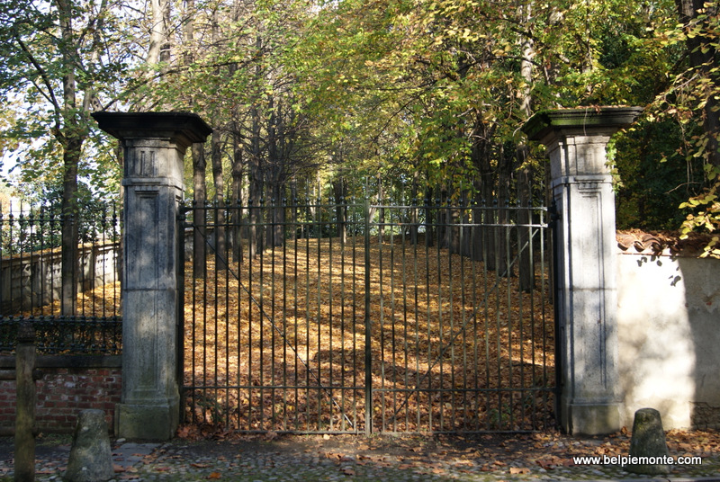 the gateway in park of Aglie' castle