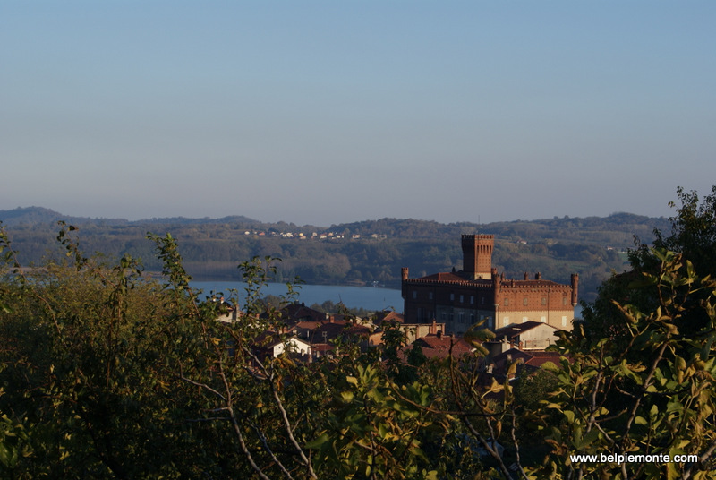 castello di Mazze' on Candia lake (Canavese region), north of Piedmont