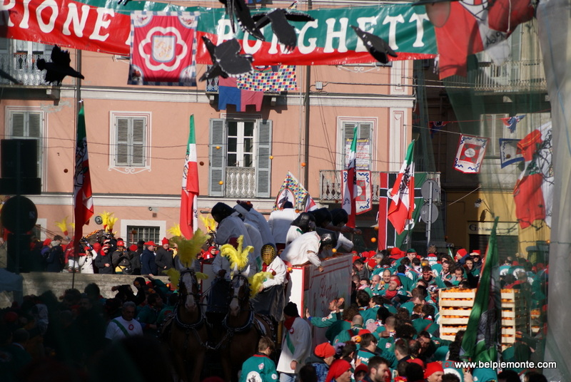 Ivrea, Piedmont, Italy, the battle of the oranges
