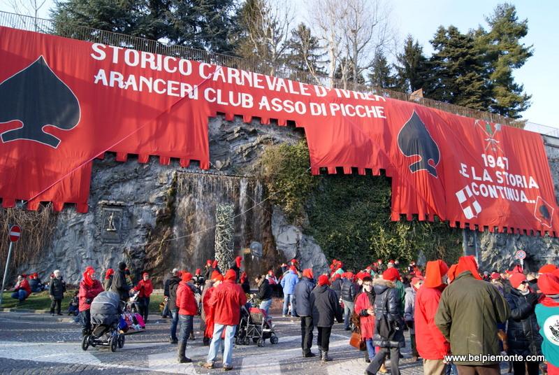 Ivrea, Piedmont, Italy, the carnival
