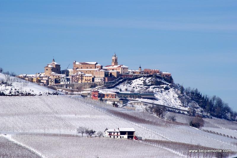 La Morra town, Piedmont, Italy