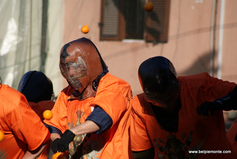 Ivrea, Piedmont, Italy, the battle of the oranges