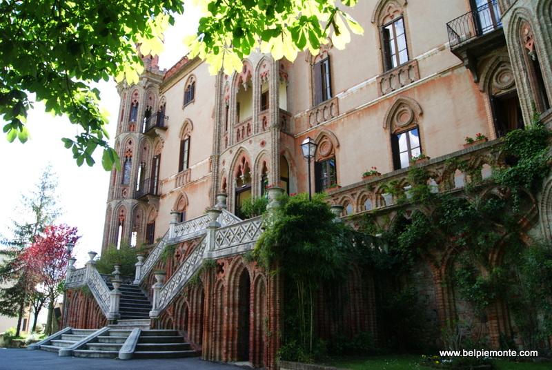 The castle of Novello, Piedmont, Italy