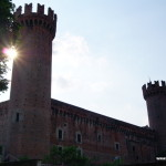 The castle of Ivrea, Piedmont, Italy