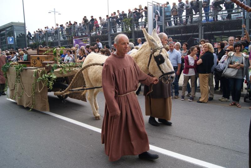 Palio degli Asini parade in Alba, Piedmont, Italy