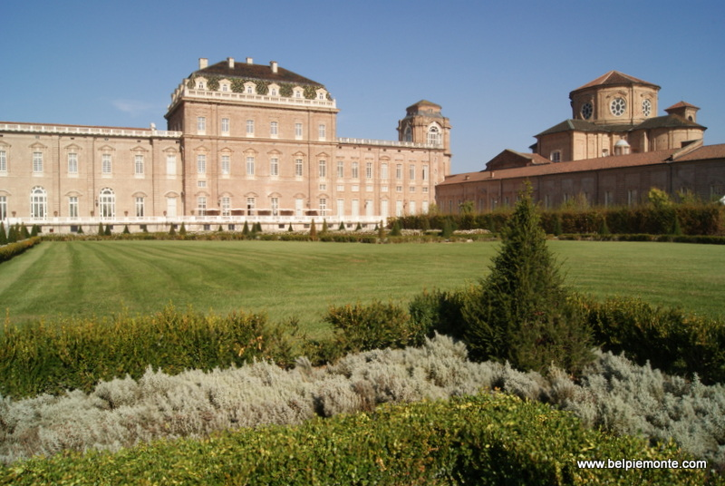 Venaria, the palace: the part of Galleria Grande (Great Gallery) and Cappella Sant'Umberto (the Church of St Hubert)
