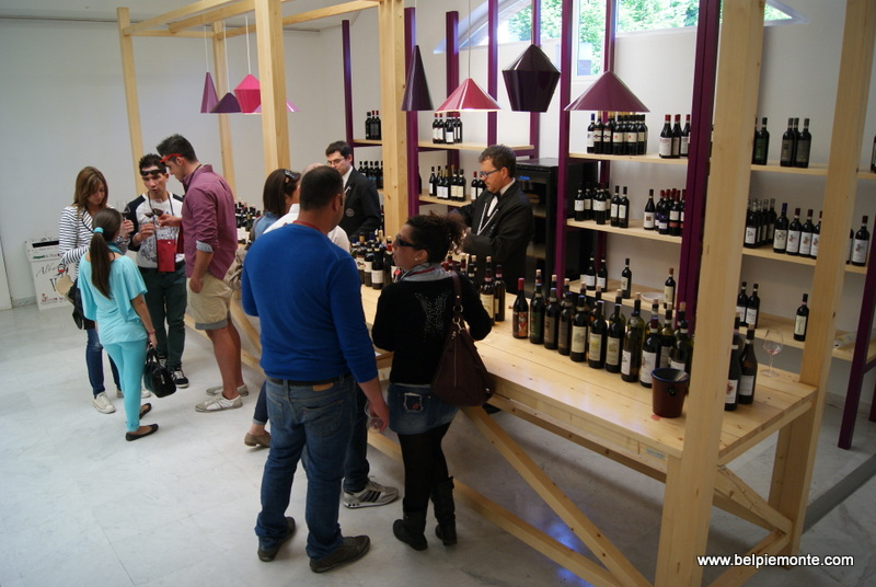wine tastings inside Palazzo Mostre e Congressi in alba