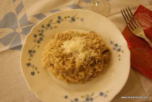 Risotto with funghi porcini