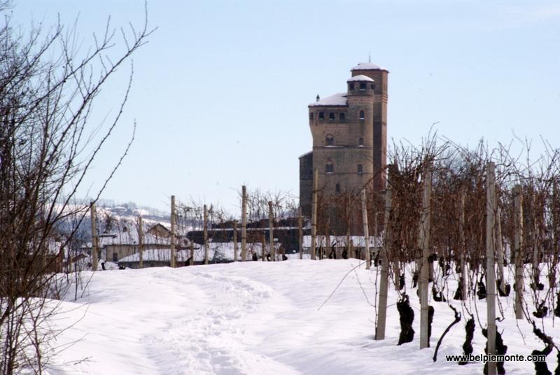 The castle of Serralunga d'Alba, Piedmont, Italy