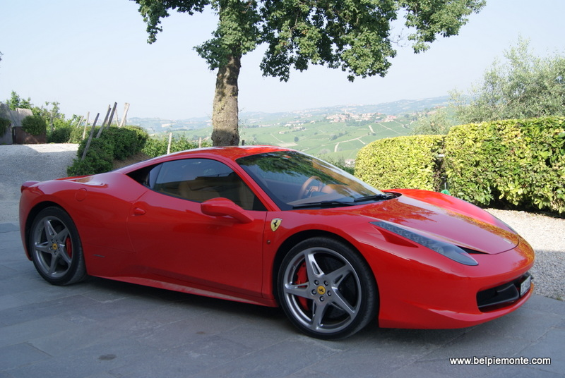 Ferrari in the Langhe, Piedmont, Italy