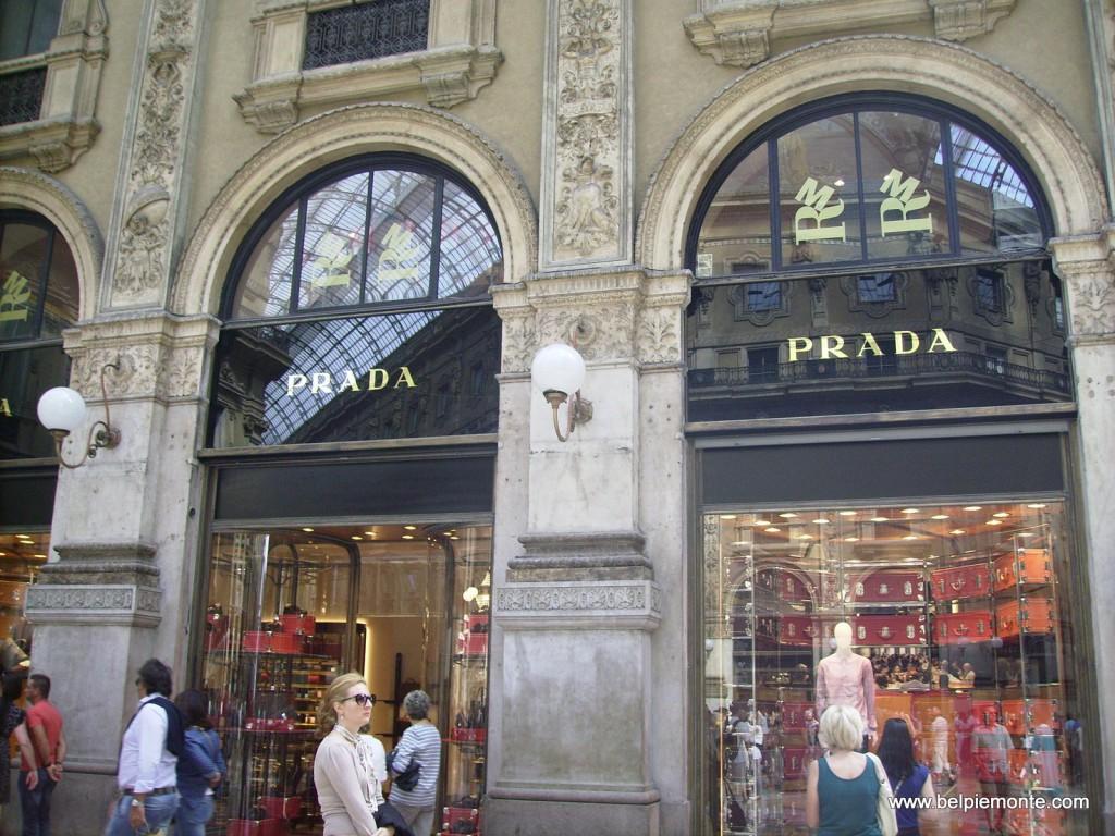 Prada shop in Galleria Vittorio Emanuele, Milan, Italy
