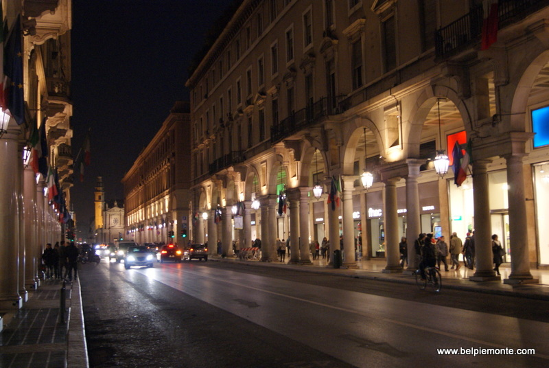 Turin by night, Piedmont, Italy