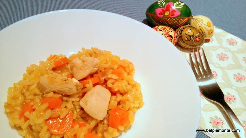 Risotto with chicken, Italian cuisine recepies