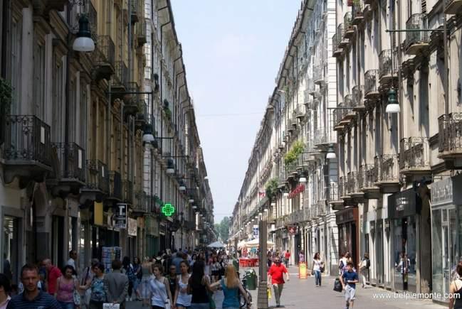 via Garibaldi, Torino, Piedmont, Italy