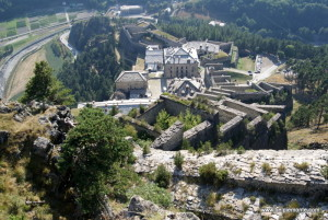 Forte di Fenestrelle - widok na Forte San Carlo