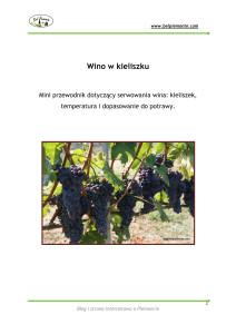 """Poradnik """"Wino w kieliszku"""""""
