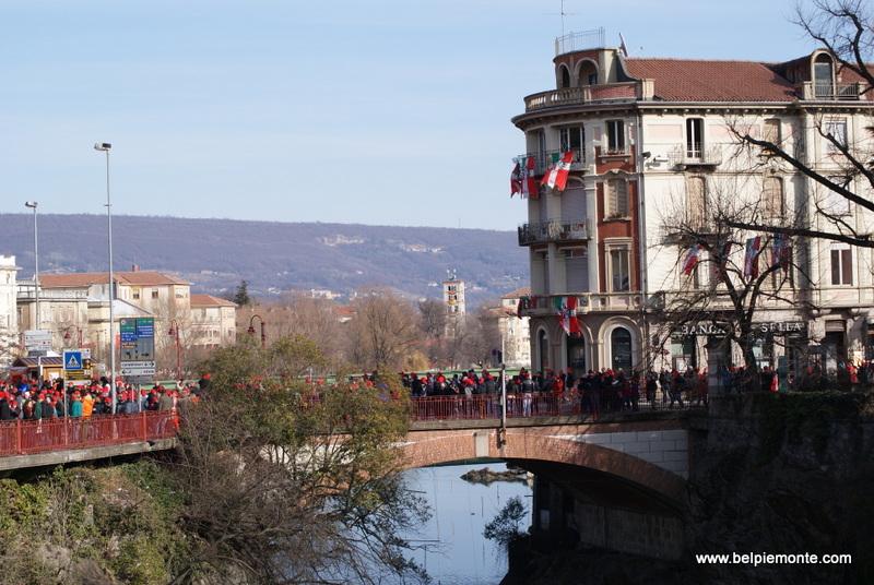 Ivrea, Piemont, Włochy, karnawał 2013