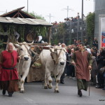 Parada przed Palio degli Asini w Albie, Piemont, Włochy