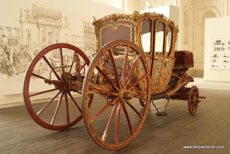 Wystawa Carrozze Regali w Reggia di Venaria Reale, Turyn, Piemont, Włochy